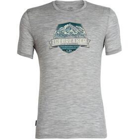 Icebreaker Tech Lite Cook Crest Bluzka z krótkim rękawem Mężczyźni szary
